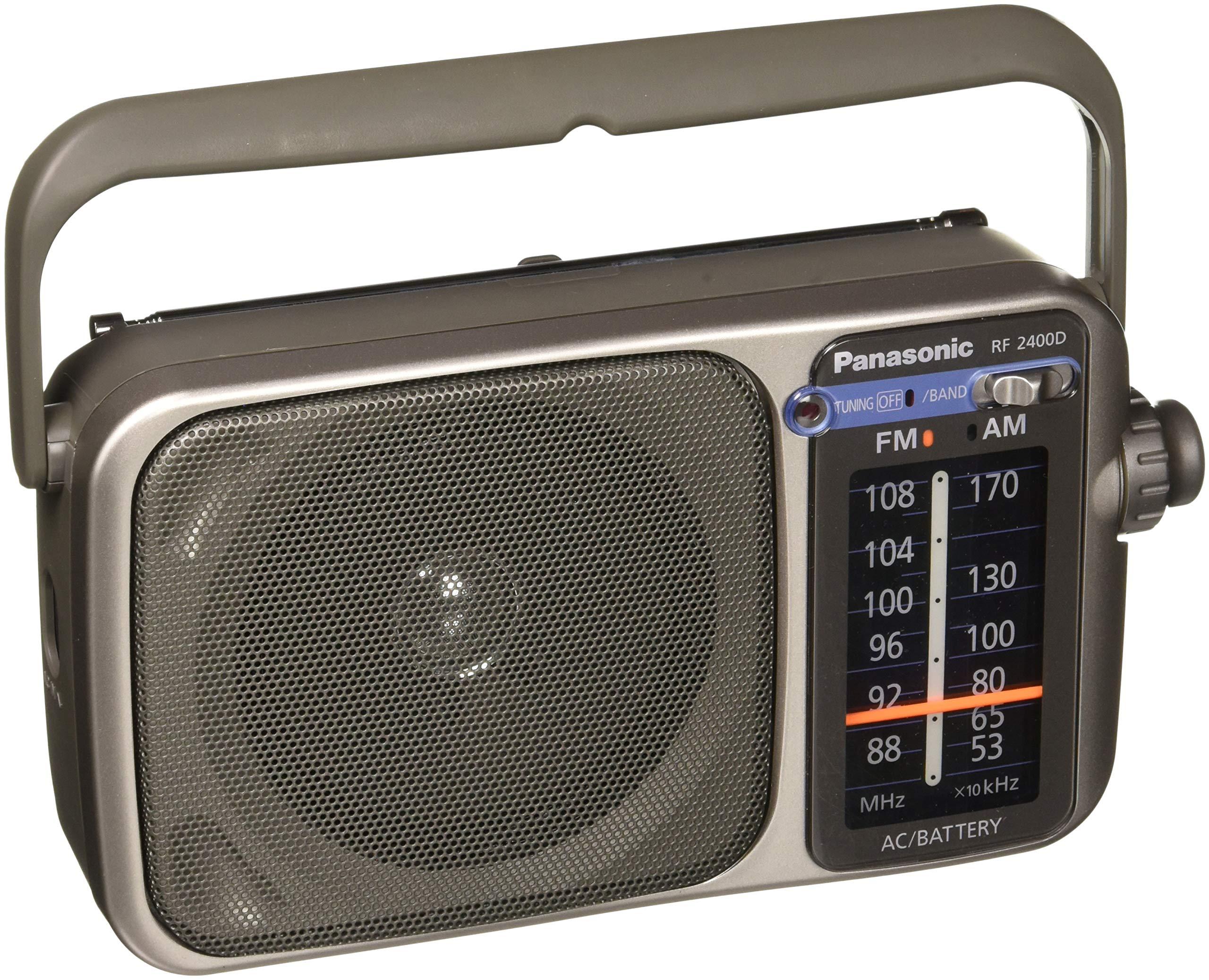 Panasonic RF 2400D AM Radio Silver