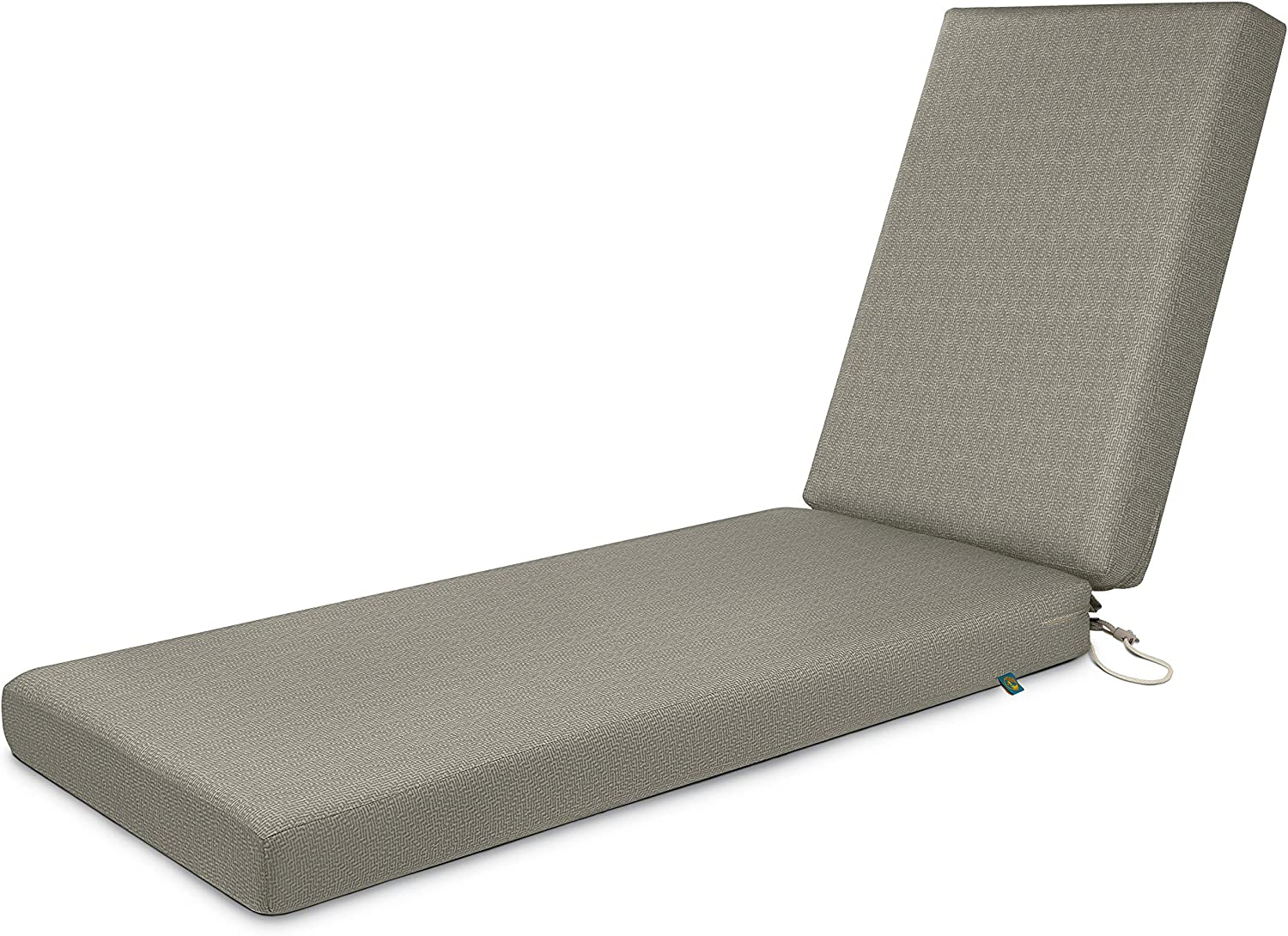 Duck Covers Weekend Water-Resistant Outdoor Chaise Cushion, 80 x