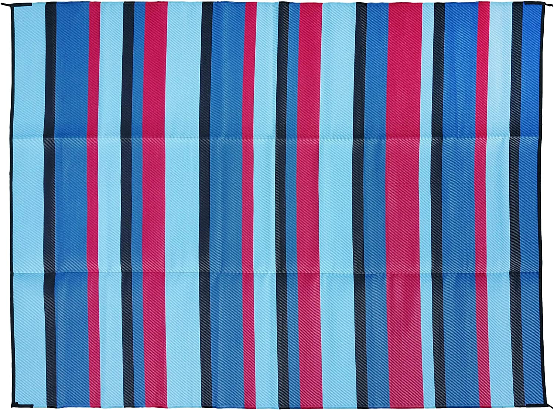 Epic Rv Mat Patio Rug Striped Pattern 9x12