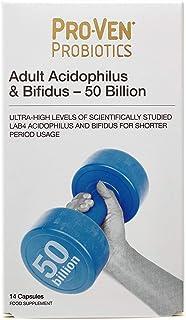 Supplements by ProVen Probiotics Adult Acidophilus & Bifidus 50 Billion Capsules x 14