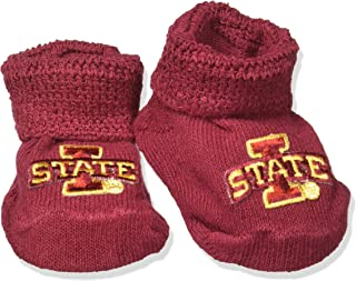 Two Feet Ahead NCAA Iowa State Cyclones Infant Gift Box Booties, One Size, Crimson