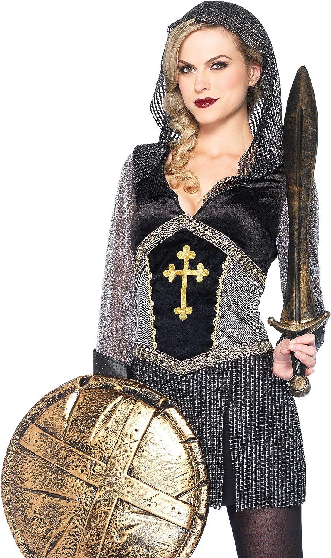 Leg Avenue 85202 - Kostüm Joan of Arc, Gre M, schwarz Silber