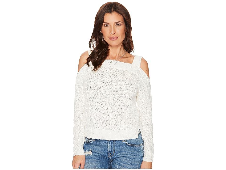 Lucky Brand Cold Shoulder Sweater (Eggshell) Women