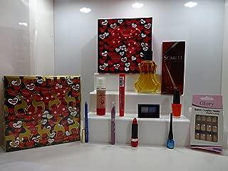 Rimmel London Cesta de maquillaje de regalo, con base de timbre gratis, 8 piezas