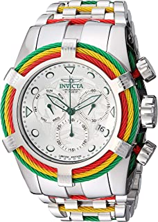 Invicta Men's Bolt Analog Quartz Watch with Stainless Steel Strap, Silver, 26 (Model: 27496)