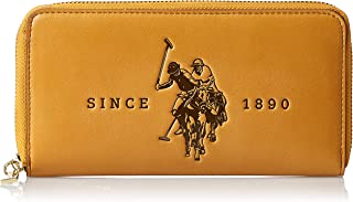 US Polo Womens Large Zip Around Wallet, Yellow - BIUFS0595WVP300