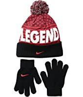 Nike Kids - Attitude Knit Beanie & Gloves Set (Big Kids)