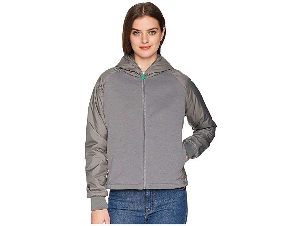 Save the Duck Recycled Hooded Jacket (Mid Grey) Women
