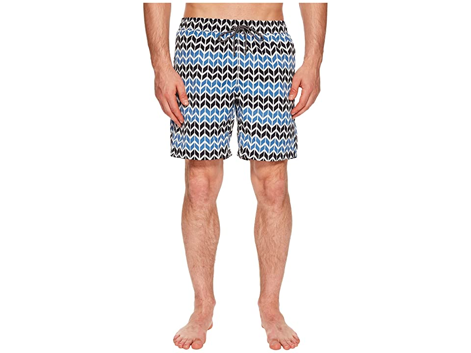 Mr. Swim Zig Zag Printed Dale Swim Trunks (Cemente) Men