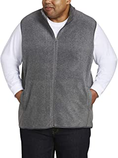 Amazon Essentials Men's Big and Tall Full-Zip Polar Fleece Vest fit by DXL, Charcoal Heather, 3XLT