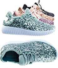 Link Lace up Rock Glitter کفش ورزشی مد برای کودکان / دختران و کودکان