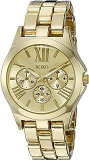 ساعة اكس او اكس او كوارتز للنساء، انالوج بعقارب بسوار مطلي بالذهب XO5864