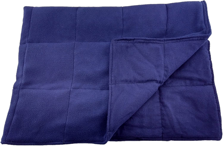 Grampa's Garden 15 LB Weighted Blanket -Navy - Premium Weighted Washable Body Blanket