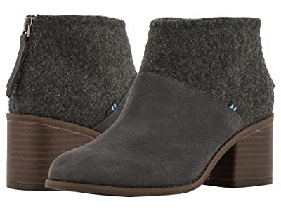 TOMS Lacy (Forged Iron Grey Suede/Felt Mix) Women