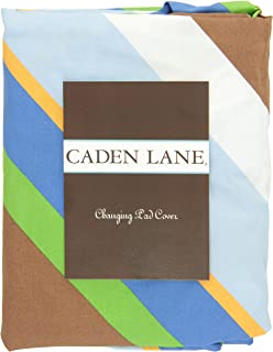 Caden Lane Boutique Collection Diagonal Stripe Changing Pad Cover, Blue