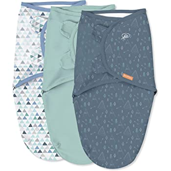 SwaddleMe Original Swaddle – Size Large, 3-6 Months, 3-Pack (Mountaineer)