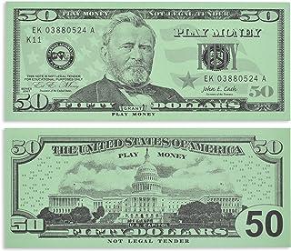 Learning Advantage, Play $50 Paper Bills - Set of 50