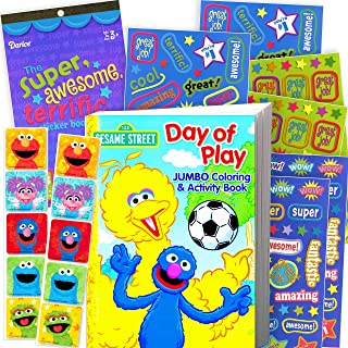 Sesame Street Elmo Coloring Book with Sesame Street Stickers