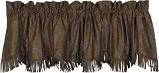 HiEnd Accents Faux Tooled Leather Western Valance, 4'2