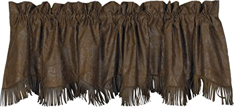 HiEnd Accents Faux Tooled Leather Western Valance