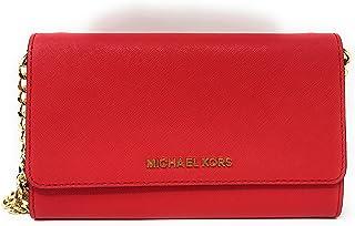 d85556dabd82 Michael Kors Womens Jet Set Travel LG Phone Crossbody bag in DK Sangria