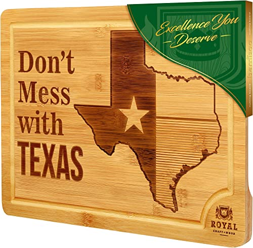 """popular Bamboo State high quality Cutting Board for Kitchen – Texas Cheese Board, Charcuterie Platter outlet sale & Serving Tray, (15"""" x 10"""") outlet sale"""