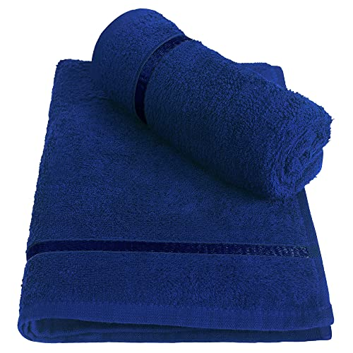 Story@Home Combo Of 100% Cotton Hand Towel Quality Cotton Towel (Set Of 2 Pc) Navy Blue