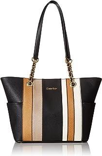 Calvin Klein Saffiano Chain Tote Bag