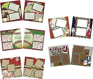 Play Ball - Baseball Scrapbook Set - 5 Double Page Layouts