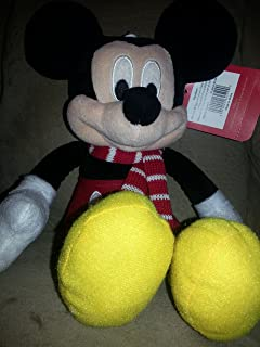 """Disney Mickey Mouse Plush with Winter Scarf - 11"""""""