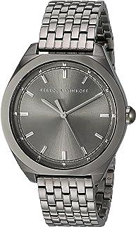 Rebecca Minkoff Women's Quartz Watch with Stainless Steel Strap, Grey, 17 (Model: 2200328)