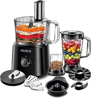 Black+Decker 750W 5-in-1 34 Function Food Processor, Black - FX775-B5, 2 Years Warranty