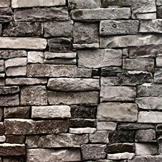 Blooming Wall Faux Stone Brick Wall Mural Wallpaper Vinyl for Livingroom Bedroom, 20.8 In32.8 Ft=57 Sq.ft.