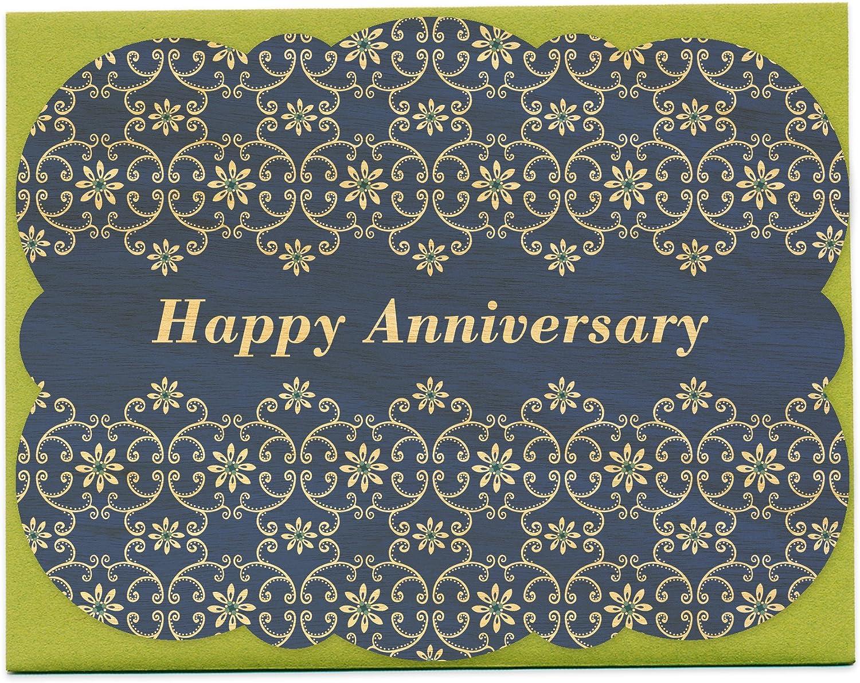 Blühende Vines Holz Jahrestag Card von von von Night Owl Papier Waren B00FKCC9WK | Lebhaft und liebenswert  | Offizielle  | Viele Stile  a00039