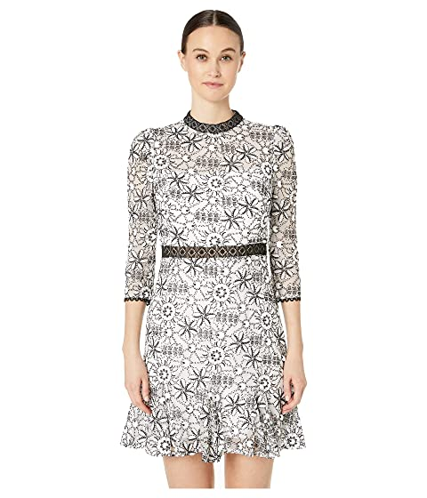ML Monique Lhuillier Long Sleeves Short Dress with Ruffle Detailing