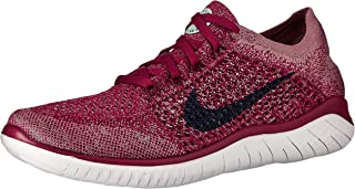 Nike Womens Free Rn Flyknit 2018 Low Top Lace Up Running Sneaker, Blue, Size 8.0