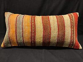 Kilim Pillow Kilim Large Pillow Turkish Pillow SP5050 5701 Patterned Pillow,Pillow Cover 20x20 Brown Pillow,Bedding Pillow,Chair Cushion