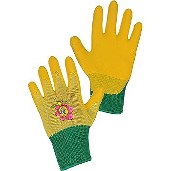 CXS Drago - Guantes de Trabajo para niños (12 Pares), Guantes de jardín y de Trabajo con Recubrimiento de nitrilo (Talla 5 y 7), Amarillo: Amazon.es: Bricolaje y herramientas