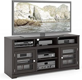 """Sonax TWB-206-B West Lake TV Stand Component Bench Media Storage Unit in Mocha Black, for TV Up To 68"""""""