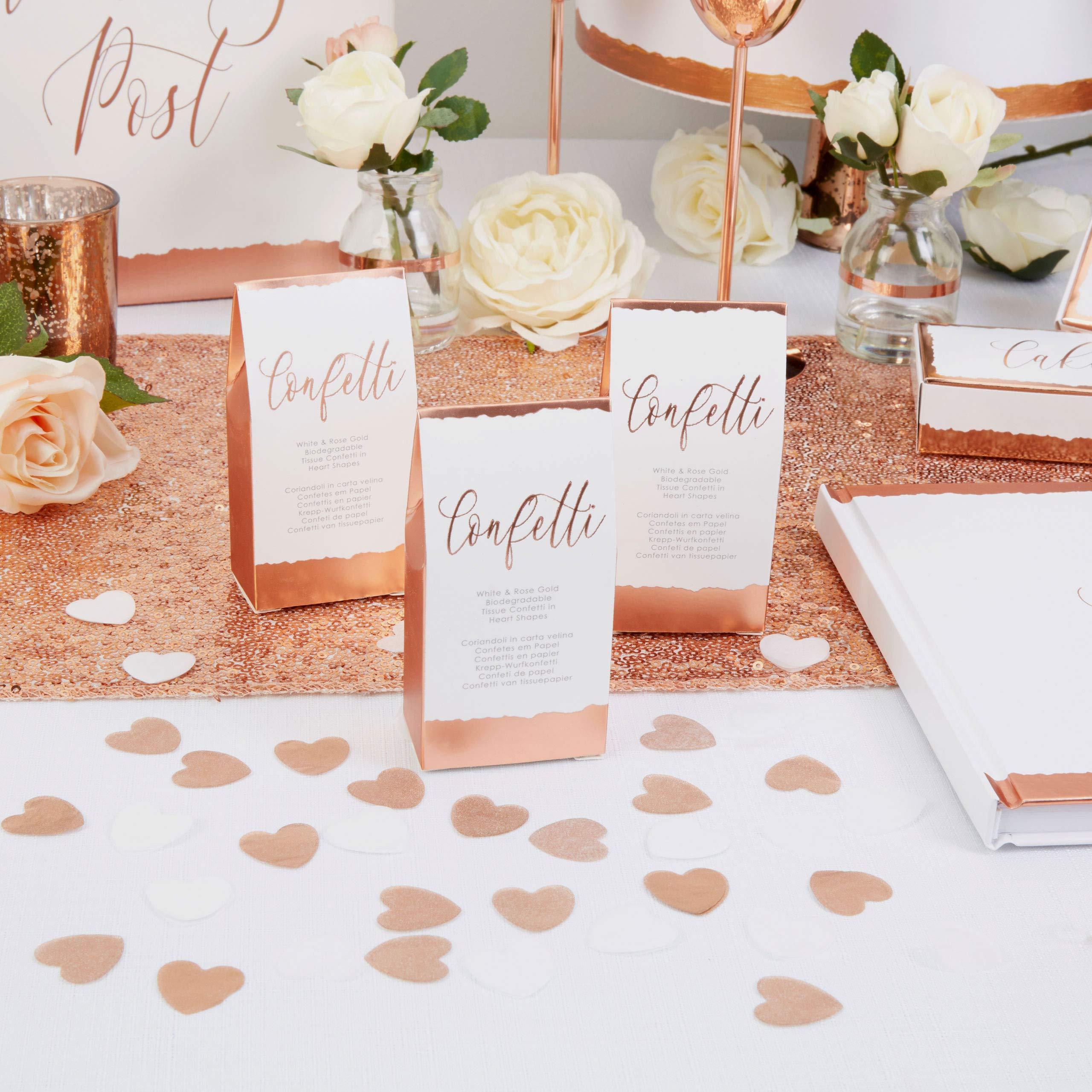 Neviti 776452 - Confeti de papel de seda, color blanco y oro rosa ...