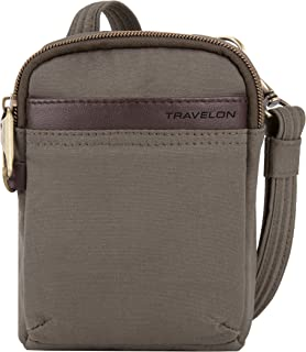 Travelon Travelon Anti-theft Courier Mini Crossbody, Stone Gray (gray) - 33338-840