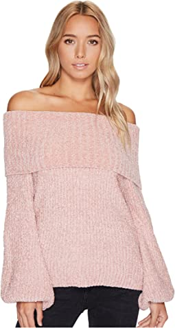 Brigitte Bailey - Gisselle Ribbed Off the Shoulder Sweater