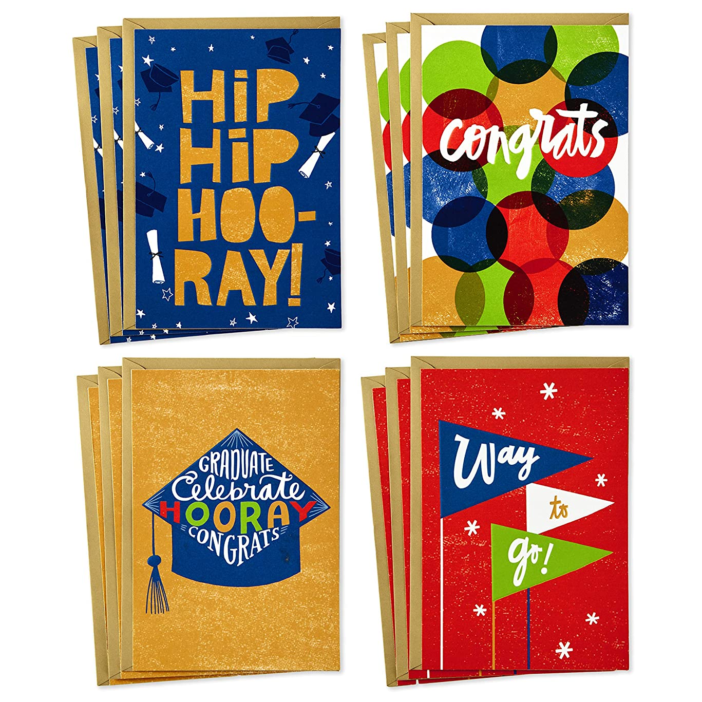 Hallmark Congratulations Cards Assortment (Boxed Set of 12 Cards with Envelopes)