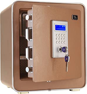 Safes Fashion Safe Box for Home Office Double Safety Key Lock and Password 1.3 Cubic Feet by Tigerking