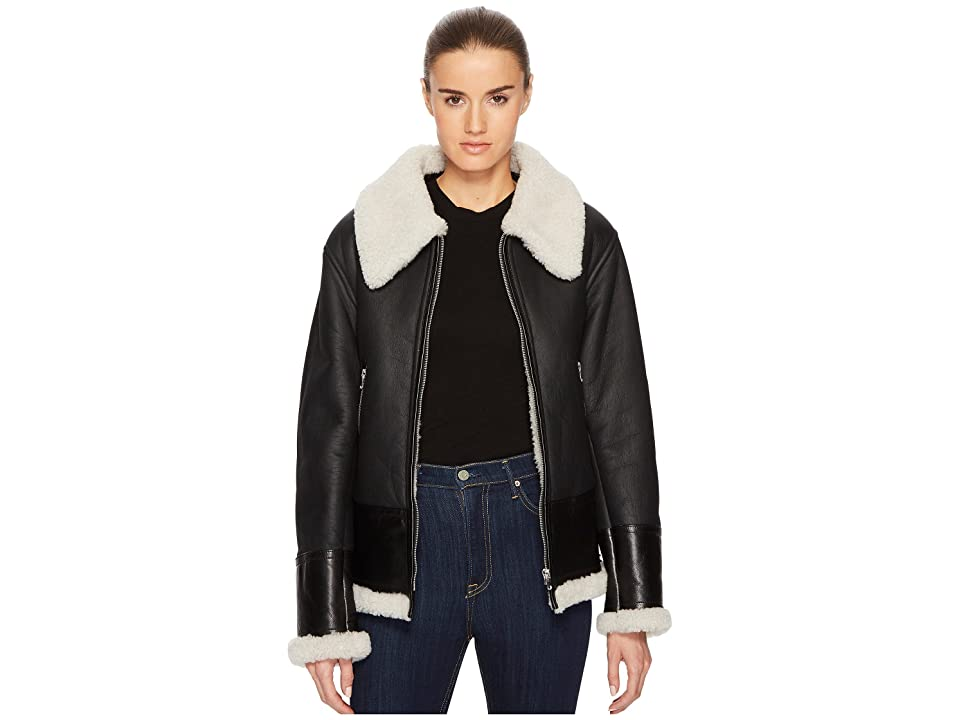 McQ Shearling Flight Cab (Black) Women