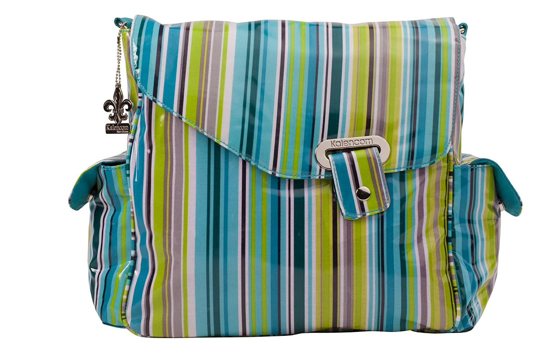 Kalencom Ozz Coated Diaper Bag, O'Stripes