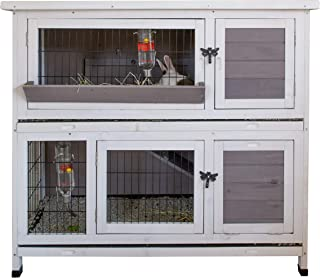 grey rabbit hutch