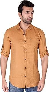 VILLAIN Men's Casual Shirt - Slim Fit Button Down Shirt in 100% Cotton