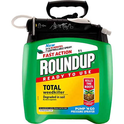 Roundup Fast Action Weedkiller Pump 'N Go Ready To Use Spray, 5 L