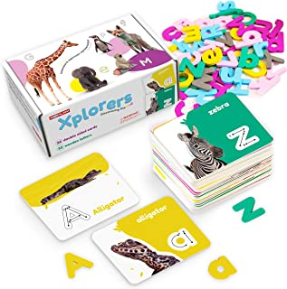 A2PLAY Alphabet Flashcards for Toddlers Ages 2-4 – Educational Puzzle Game with Matching Letters and Animal Pictures – ABC...